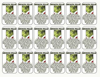 Grinch Pills Template | Grinch Pills