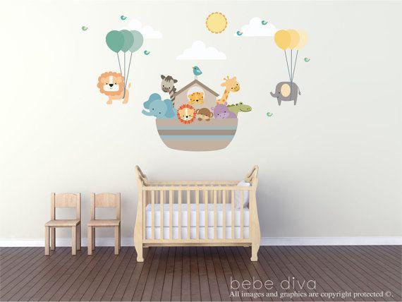 Best  Noahs Ark Nursery Ideas On Pinterest Animals In The - Baby wall decals