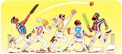 Doodleando, Los Logos de Google: 140º Aniversario del Primer Partido oficial de Cri...