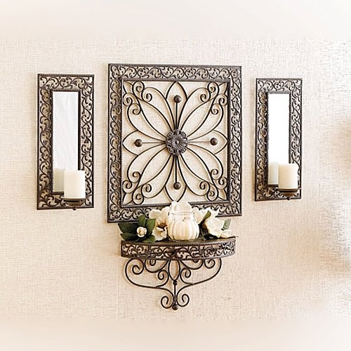 Ramsey Grouping 33559 Ramsey Wall Art and Sconces 04070 Contempo Candle -  Gardenia (White) 14151 Pillars - Vanilla Cream - set of 2 33225 Elegant  Magnolia ...