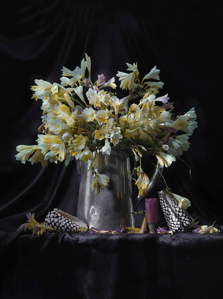 e-Dying+Freesia+in+a+Silver+Water+Jug+with+Two+Conus+marmoreus+and+a+Shotgun+Shell+Ripiro_2014_2544.jpg 857×1,152 pixels