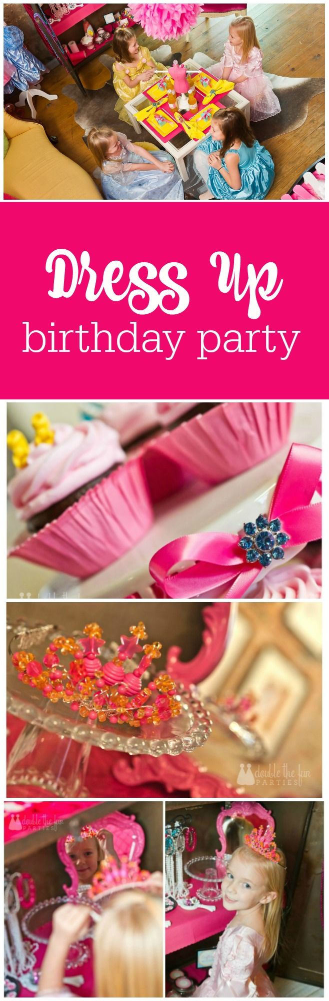 Dress up birthday party by The Party Teacher |http://thepartyteacher.com/2013/01/14/our-parties-dress-up-birthday-party/