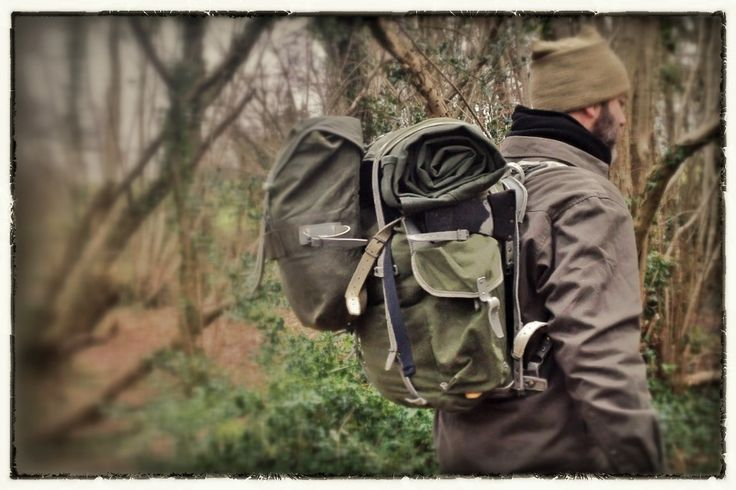 Canvas Rucksack And Bedroll Hiking Amp Backpacking