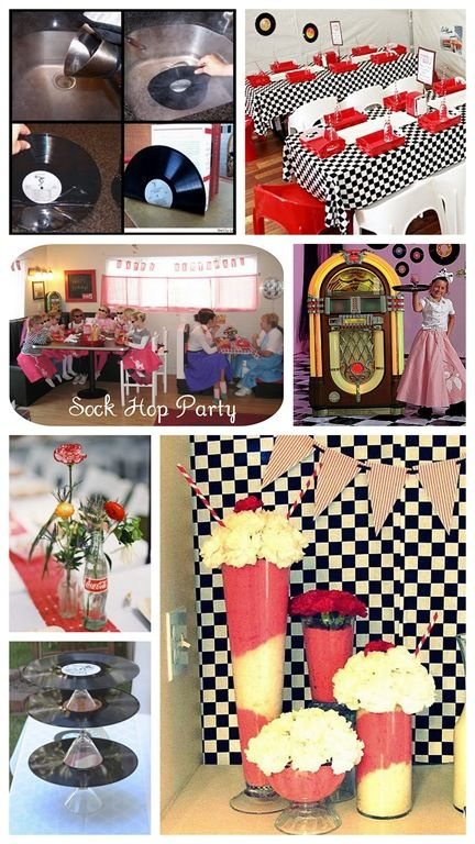 50S Themed Wedding | Melting records - What a great idea! You could do so much with this ...