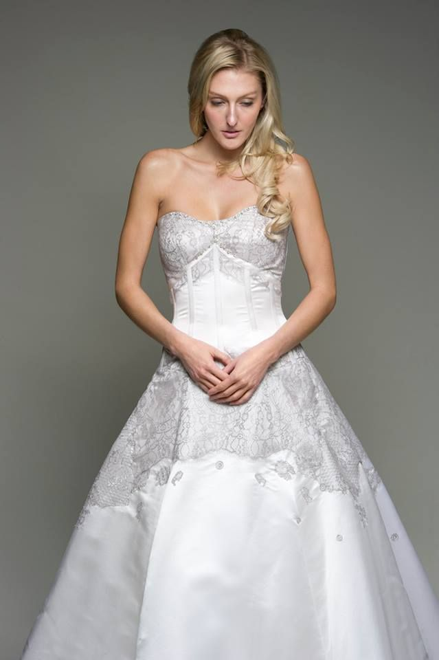 White and silver ball gowns gown and dress gallery for Silver ball gown wedding dresses