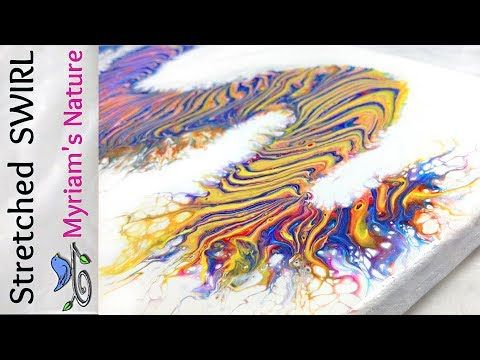 (285) 41]  STRETCHING a Dirty Pour SWIRL even further!  Tips & more -  Fluid Acrylic painting - YouTube
