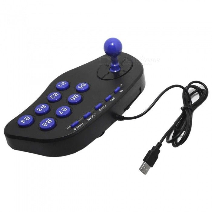 USB Fighter Joystick Controller for PC (1.8M-Cable)