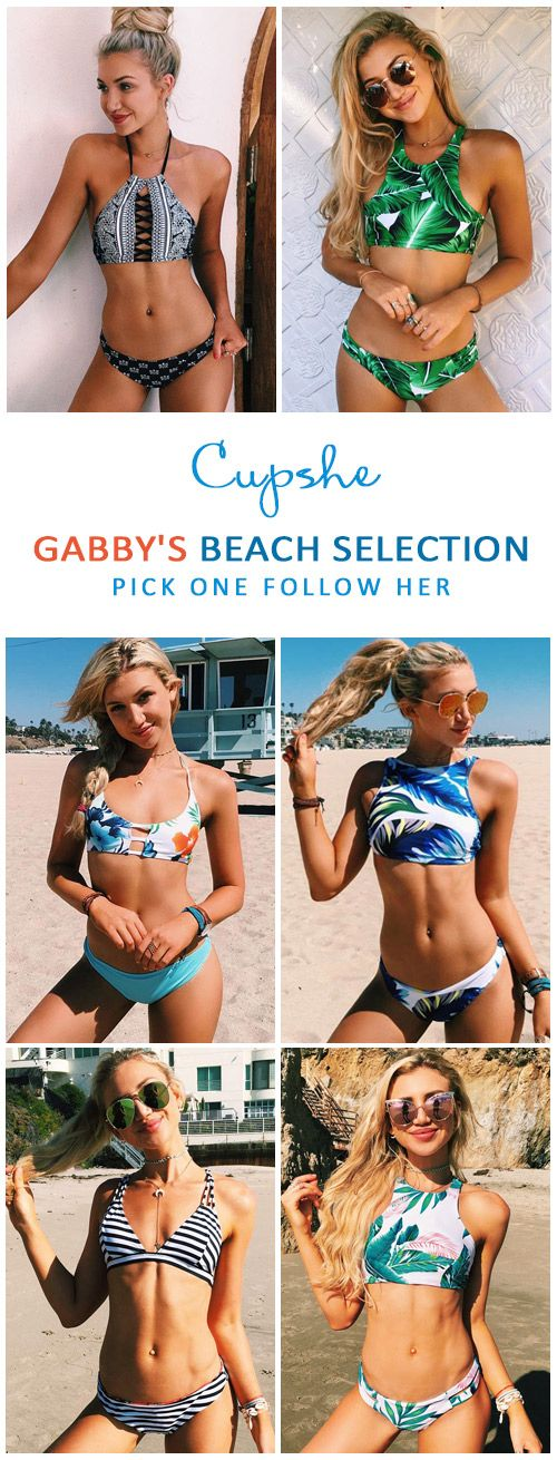 Check it out! Gabby's favorite Bikinis! Best must-have for your summer wardrobe! Start with Only $19.99! Fast Free shipping as well! We love these flattery beauties! Be another beach hot at Cupshe.com