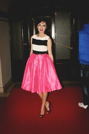 Nivea Fashion Week / Stripe Vest Midi Peacupuff Dress - Young Sophisticates