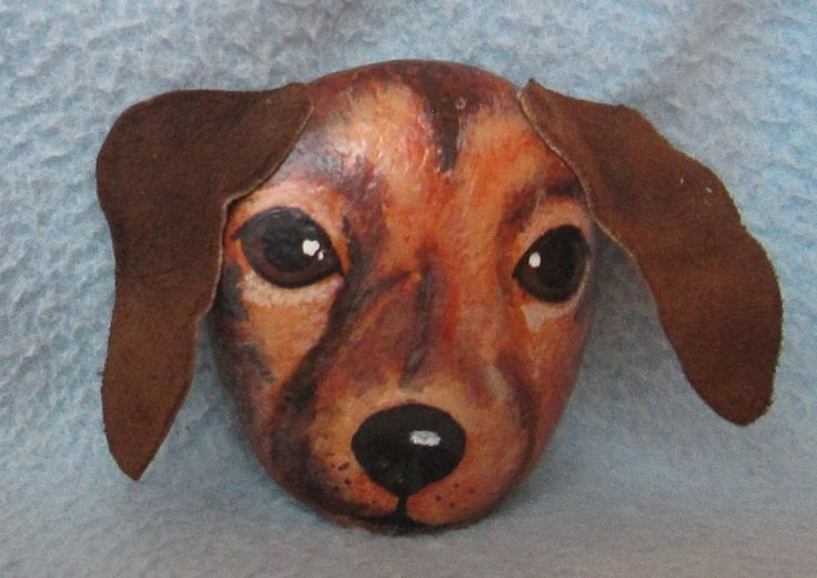VINTAGE 1970's DACHSHUND DOG HAND PAINTED ROCK PAPERWEIGHT FIGURE, Unique, Rare | Collectibles, Animals, Dogs | eBay!