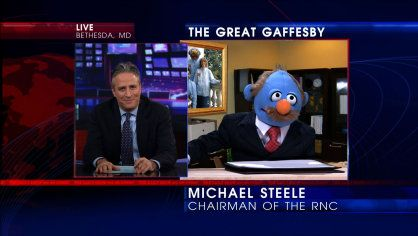 The Great Gaffesby | Puppet RNC Chairman Michael Steele will run for a second term so he can cut taxes for bibillionaires, repeal Obibble-care and protect America's bibbles.