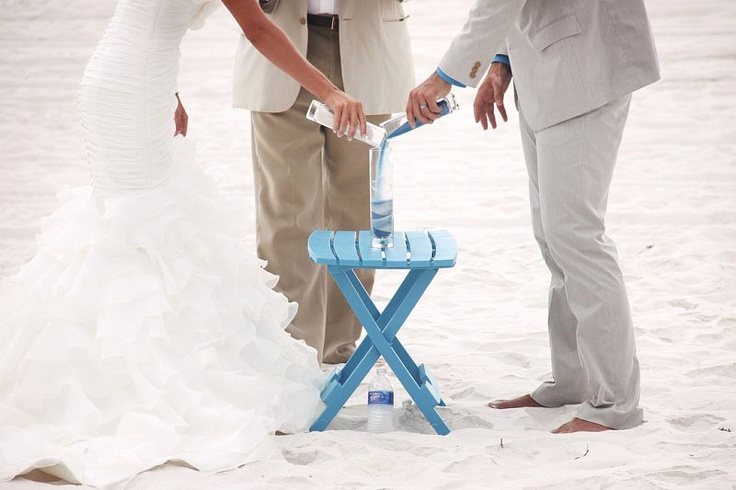 Lovely idea to enhance a beach wedding ceremony