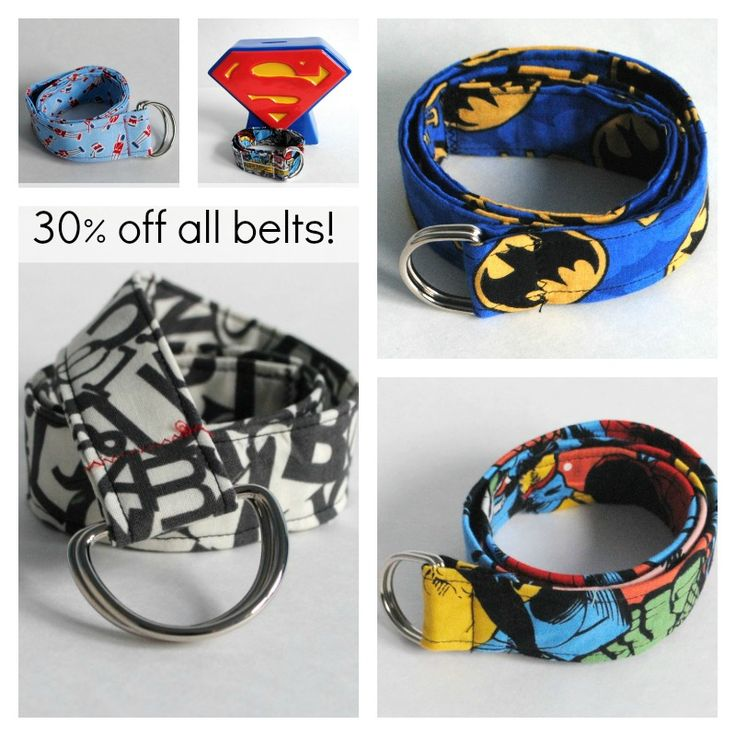 30% off Fabric D-ring Belt at Beatnik Kids Etsy Shop