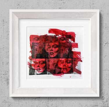 "Saatchi Art Artist Tezcan Bahar; Printmaking, ""Marelyn Series - 7 - Limited Edition 1 of 1"" #art"