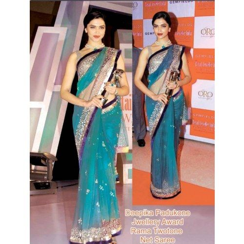 Online Shopping for bollywood disainer deepika saree | Bollywood Sarees | Unique Indian Products by vibhavaree fashions - MVIBH75745309760