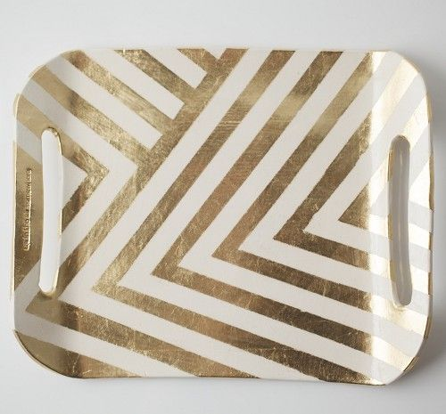 Gold patterned tray