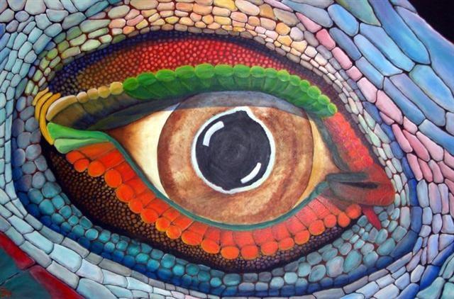 iguana eye painting - photo #16
