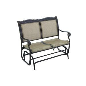 Visit The Home Depot To Buy Hampton Bay Westbury Alumicast Sling Double  Patio Glider
