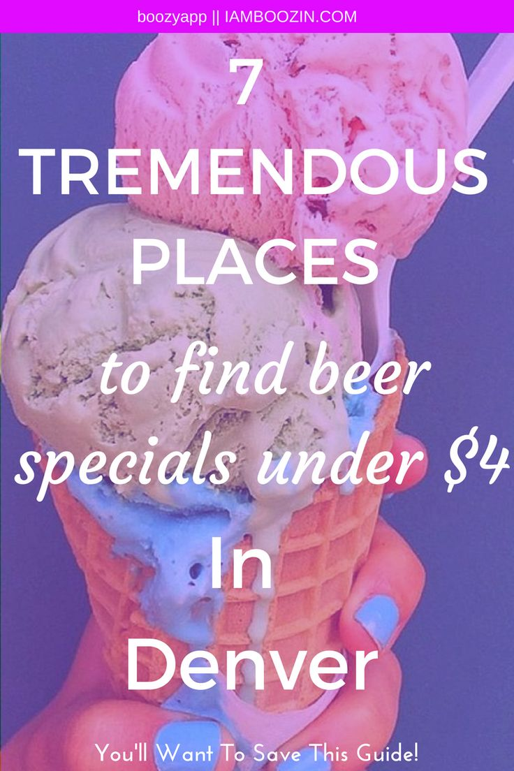 Happy Hour Denver | 7 Tremendous Places To Find Beer Specials Under $4 In Denver [You''ll want to save this guide for later]...Click through for more!  Denver Happy Hour Happy Hour Denver Happy Hour In Denver