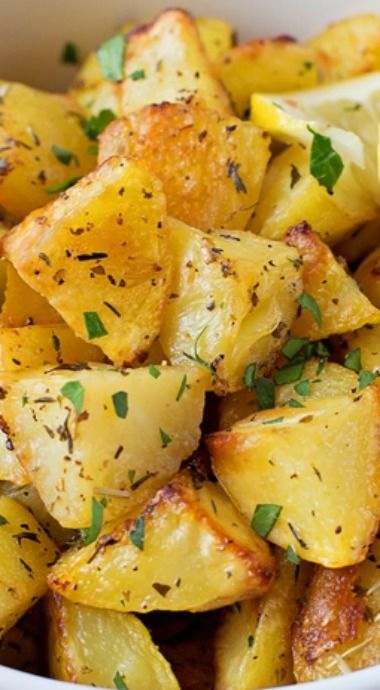 Easy Lemon Herb Roasted Potatoes