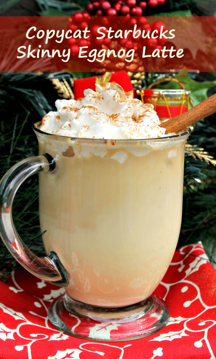 During the holidays, I look forward to the eggnog latte from Starbucks. Now I can make it at home with my Copycat Starbucks Skinny Eggnog Latte recipe.