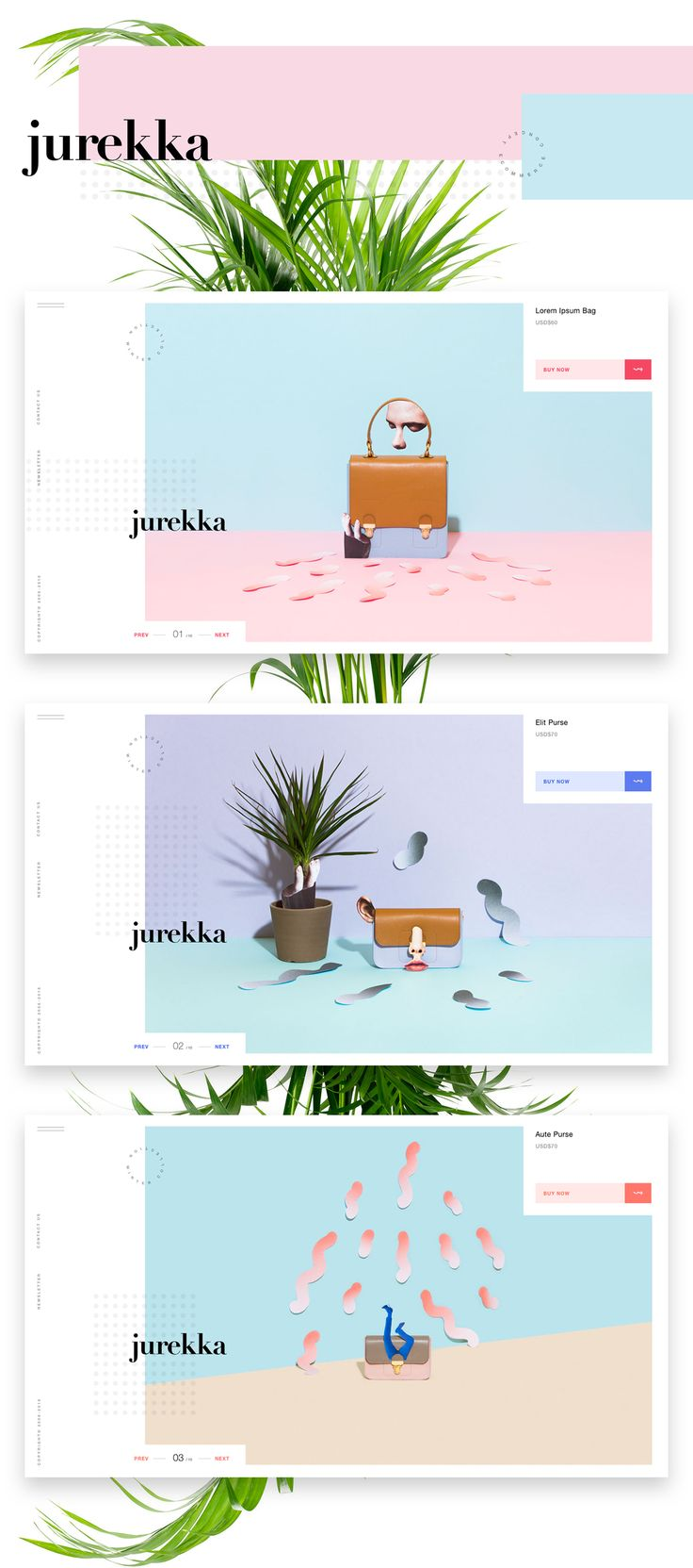 Jurekka Ecommerce (concept) on Behance