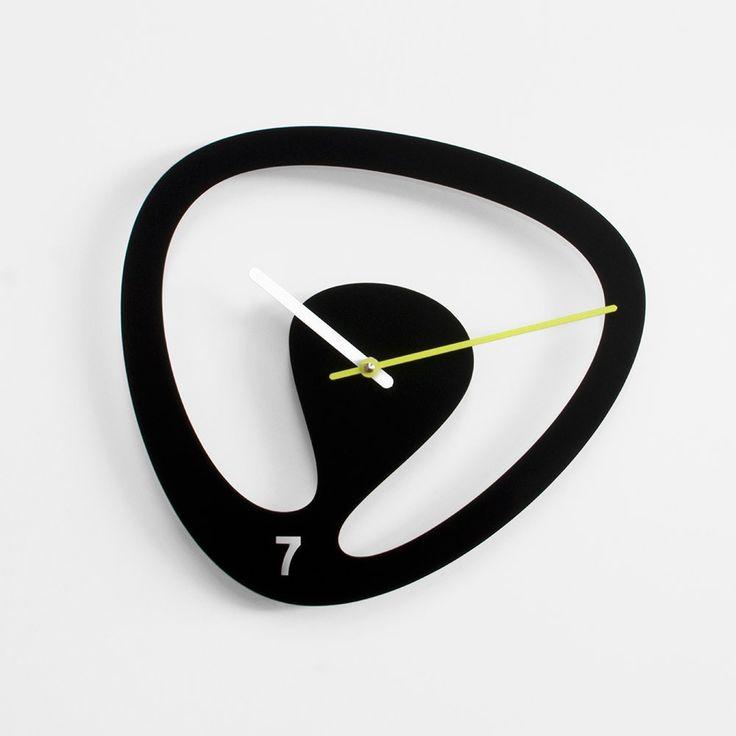 Dise ador karim rashid reloj pared en acero pintado - Reloj pared diseno ...