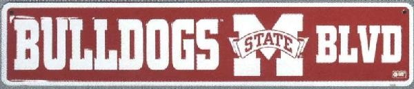 Mississippi State Bulldogs Metal Street Sign