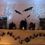 Black Bat Wall Sticker Hellowen Decoration
