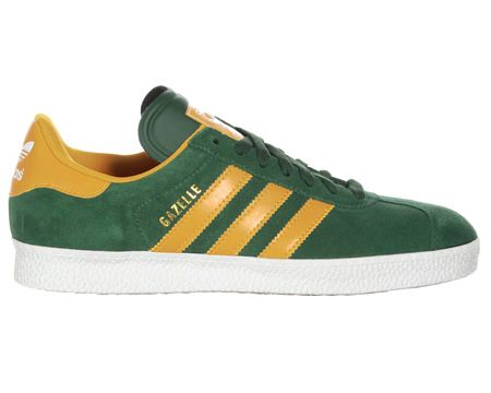 Adidas Gazelle II Green Gold Suede Trainers