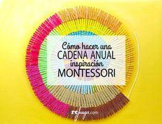Cómo hacer una cadena anual inspiración Montessori