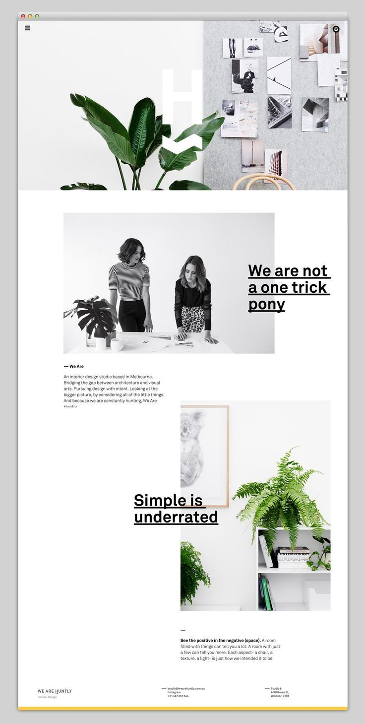 http://wearehuntly.com.au/ website - Typographie - layout: