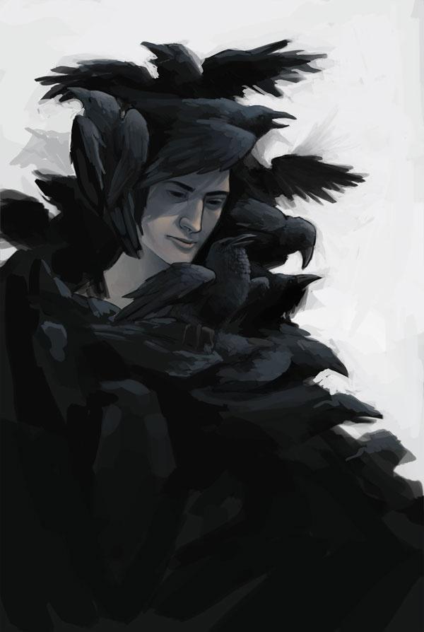 raven crow half man - photo #16