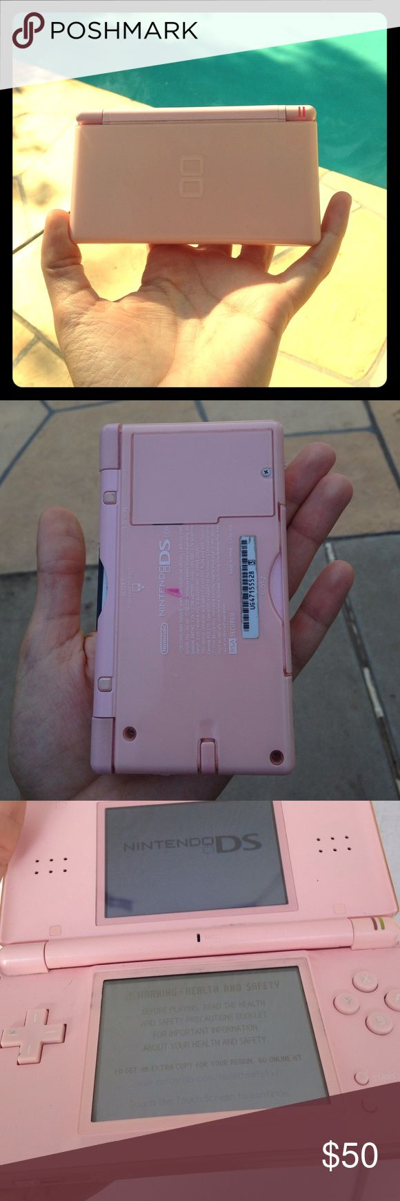 Pink Nintendo Ds Lite In good condition, just the pink stain on the back as shown and some dirt in the cracks but still works perfectly! I can include some games in the price, please ask for details if interested! All offers welcome! Nintendo Other