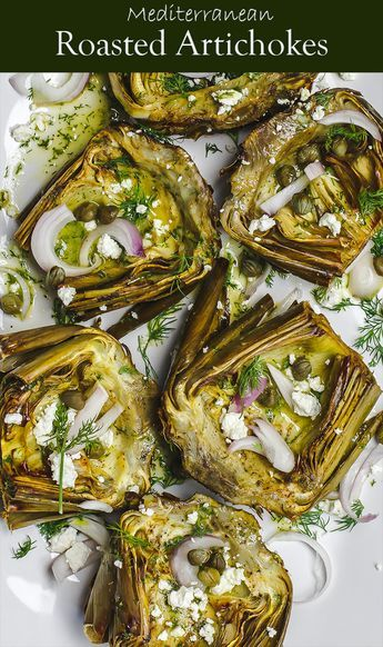 Mediterranean Roasted Artichoke Recipe