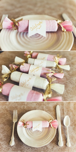 DIY candy poppers! This is a great idea for any wedding, but especially for New Years Eve Weddings like my Sister's!