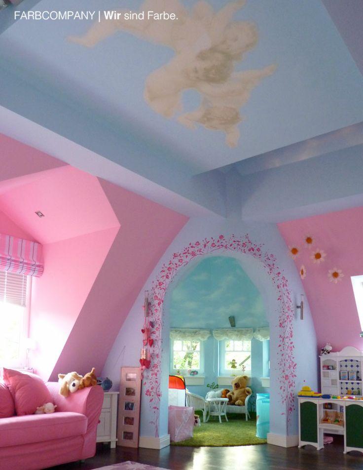 Raumgestaltung Eines Traum Kinderzimmers. Malerarbeiten Hannover.  Wandgestaltung. Farbgestaltung. Wohnraumgestaltung. Farbkonzept Inspiration