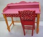 Girls, dots, pink, red, yellow #kinderbureau #kindermeubelen #kinderkamers