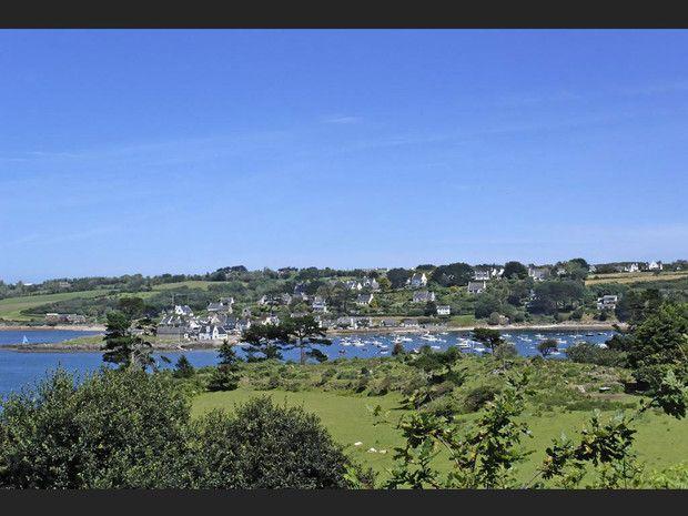Primel, dans la baie de Morlaix (Finistère, France).