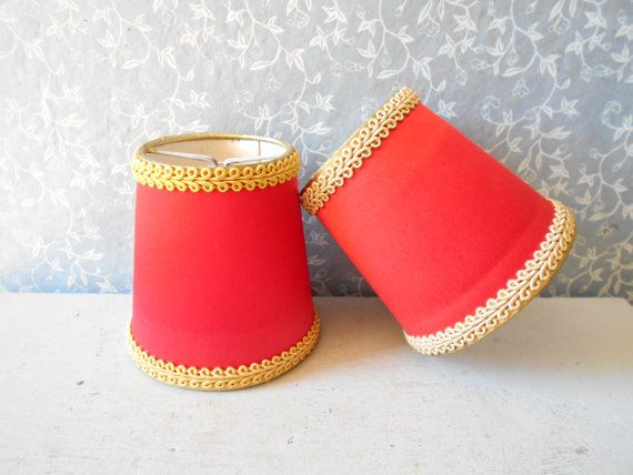 French set of small lamp shades  pair of mid par Birdycoconut