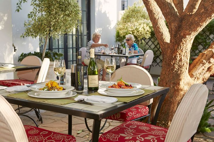 Having lunch or dinner at our terrace..