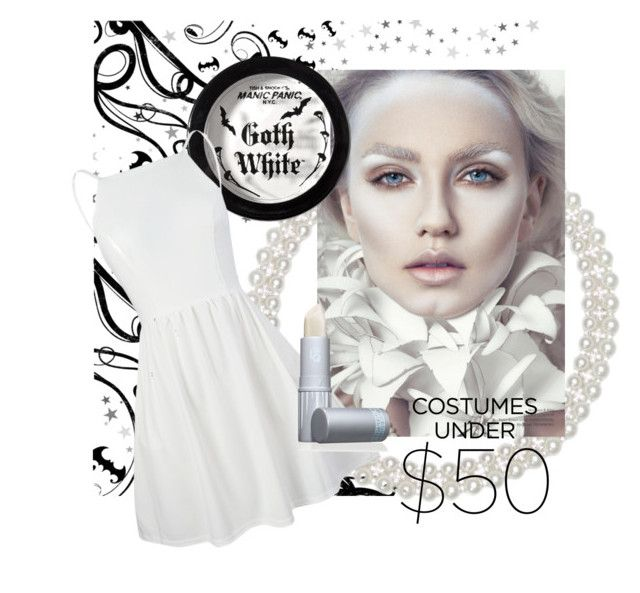 """Halloween Under $50"" by lavalu-1 ❤ liked on Polyvore featuring Kim Rogers, Manic Panic NYC, Lipstick Queen and halloweencostume"