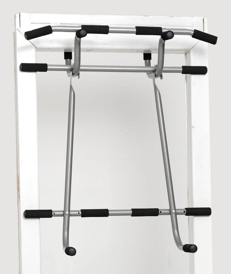 Triple Door Gym Ultimate 3 In 1 Pullup Doorway Bar – Total Body Home Workout Bar For Chin Ups, Dips & Suspension Exercises, Heavy Duty Steel Construction, Screwless Installation On All Standard Doors. UNLIKE OTHER FLIMSY & IMPRACTICAL DOORWAY PULLUP BARS that may damage your door and train only one muscle group, the Triple Door Gym is the ONLY pull and dips doorway gym bar that hooks on your door without any screws, holes, bolts or damage!. WORK EVERY MUSCLE GROUP IN YOUR ENTIRE BODY from...