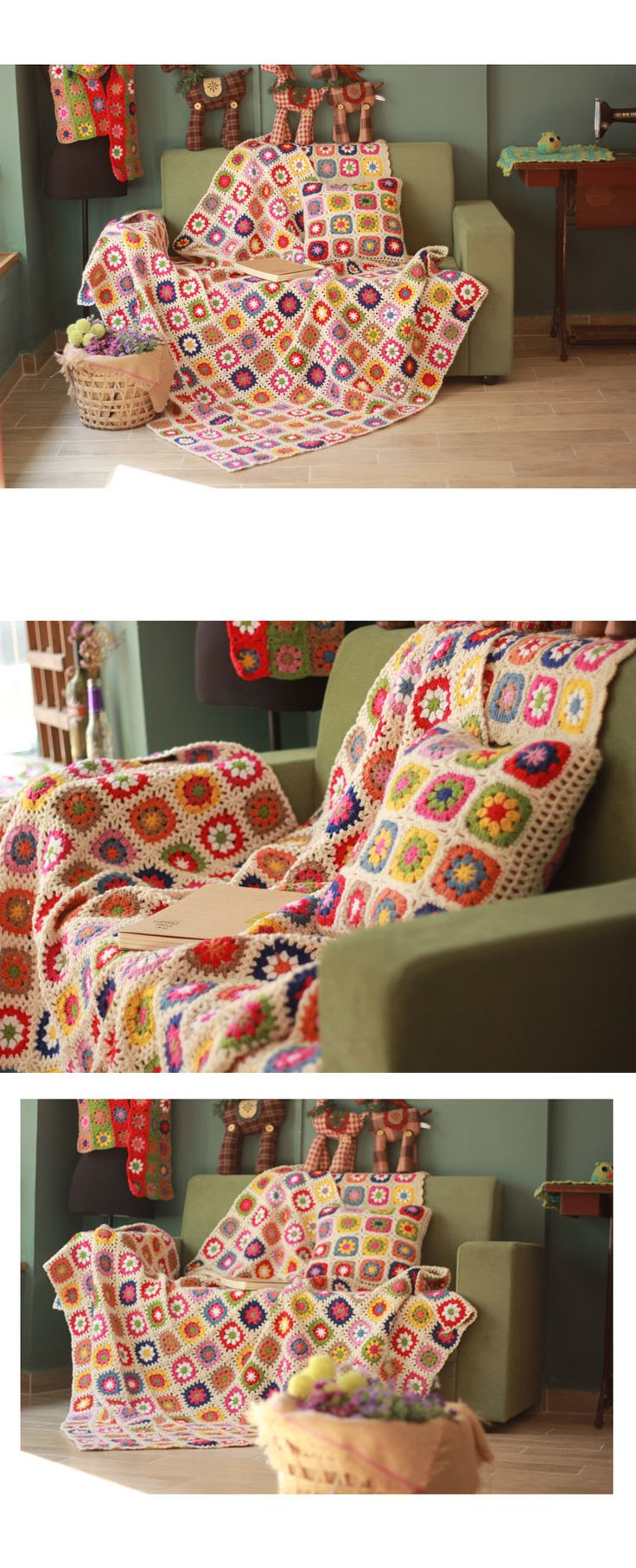 Aliexpress.com: Compre Cobertores artesanais de Crochê Floral Pastoral Decorativo tampa Do Sofá/Sofá Encosto Toalha De Presente De Casamento de confiança Presentes relógios fornecedores em Super Best