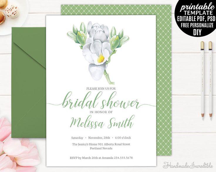 163 best Bridal Shower Invitation images on Pinterest Invitation - bridal shower template