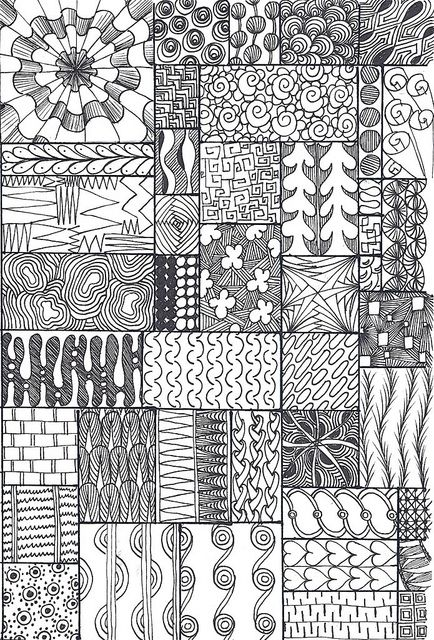 zentangle sampler by *carolion*, via Flickr