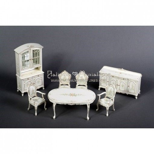 1000 images about platinum miniature furniture on pinterest fitted kitchens dinning room - Dollhouse dining room furniture ...
