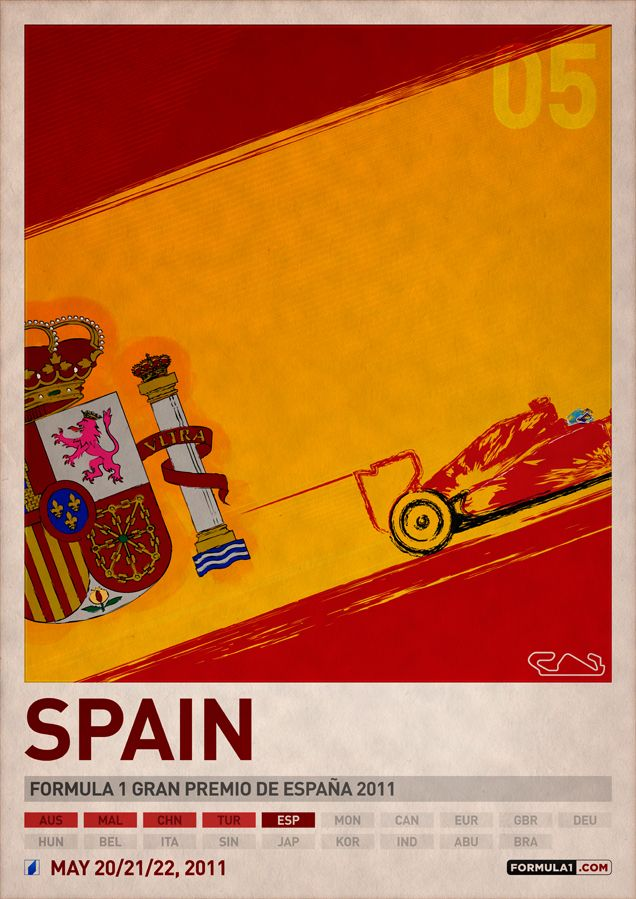 2011 F1 Spain Poster