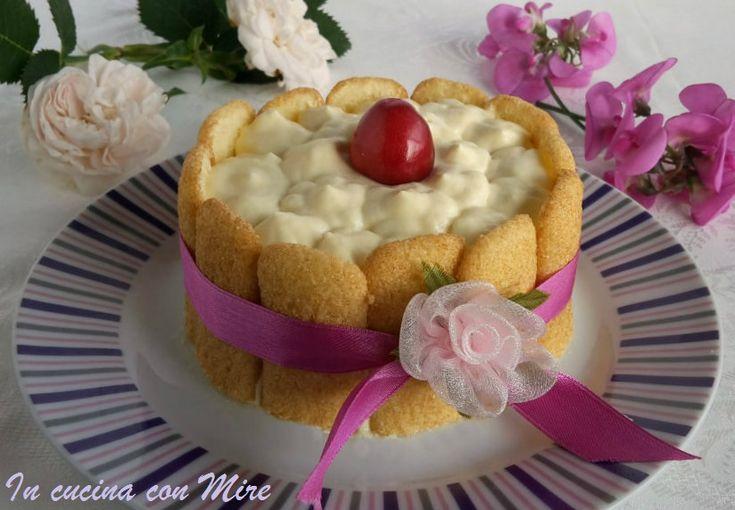 #gialloblogs #ricetta #incucinaconmire #Mini charlotte alla crema di mascarpone | In cucina con Mire