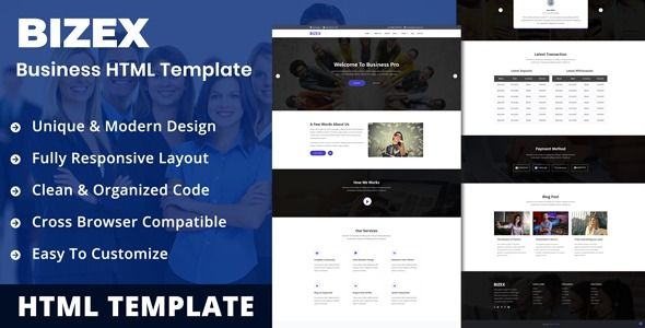 Bizex Professional Business Html5 Templates Best Premium